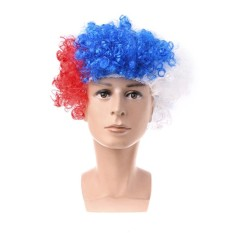 Bendera Nasional Olahraga Rambut Wig Soccer World Cup Supporters League Fancy Dress-Intl