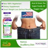 Spek Natrol Acaiberry Diet Acai Green Tea Super Foods 60 Veggie Caps Pelangsing Pembakar Lemak Natrol