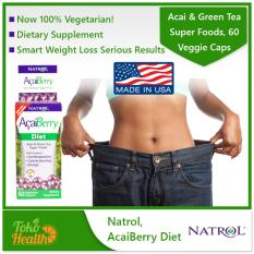 Review Toko Natrol Acaiberry Diet Acai Green Tea Super Foods 60 Veggie Caps Pelangsing Pembakar Lemak