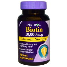 Spesifikasi Natrol Biotin Maximum Strength 10 000 Mcg 100 Tablets Baru