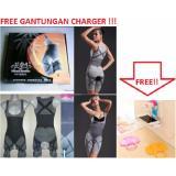 Jual Natural Bamboo Slimming Suit Baju Bambo Free Gantungan Charger Termurah