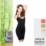 Harga Natural Bamboo Slimming Suit Hitam Size L Xl New