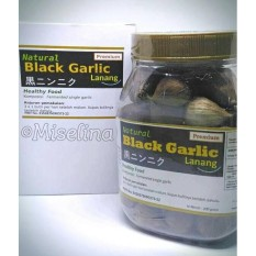 Natural Black Garlic Lanang Premium Berat 200gr - Obat Herbal Bawang Lanang Hitam Fermentasi - Black Garlic BPPT - Bawang Hitam Tunggal