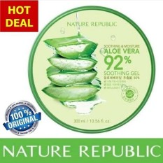 Nature Republic Aloe Vera Gel 92% Soothing & Moisture 300ml ORIGINAL KOREA FAST DELIVERY