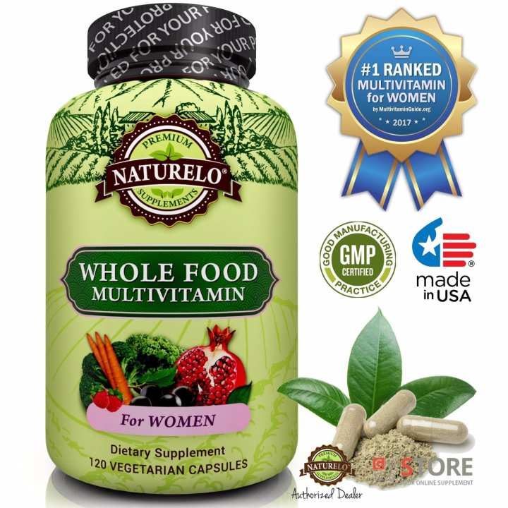 NATURELO - #1 Ranked - Whole Food Multivitamin for Women - 120 capsules