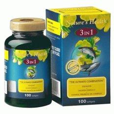 Perbandingan Harga Nature S Health 3 In 1 Squalene Salmon Omega 3 Epo 100 S Nature S Health Di Jawa Timur