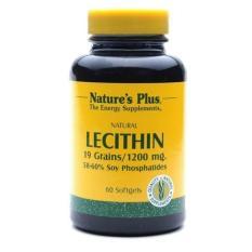 Nature's Plus Lecithin 1200 Mg 60's - Suplemen Kesehatan Hati, Menurunkan Kolesterol, Obat Jantung, Menurunkan Trigliserida