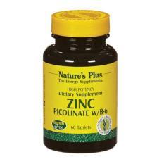 Nature's Plus Zinc Picolinate With B6 60's - Meningkatkan Daya Tahan Tubuh, Kekebalan Tubuh, Imunitas Tubuh, Antioksidan