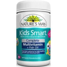 Nature's Way Kids Smart Complete Multi Vitamin & Fish Oil 100 Capsules