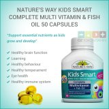 Spesifikasi Nature S Way Kids Smart Complete Multi Vitamin Fish Oil 50 Capsules Beserta Harganya