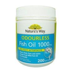 Toko Natures Way Minyak Ikan Natures Way Odourless Fish Oil 1000 Mg 200 Kapsul Online