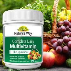 Harga Natures Way Multivitamin Plus Spirulina 200 Tablet Baru