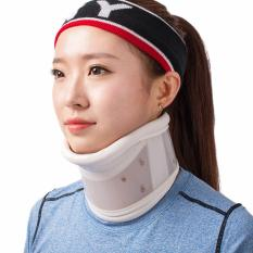 Promo Neck Cervical Traction Collar Device Brace Support Hard Plastic For Headache Neck Pain Hight Adjustable(M) Intl Tiongkok