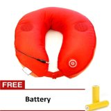 Jual Neck Massager Pillow Mp3 Support With Speaker Merah Branded Original