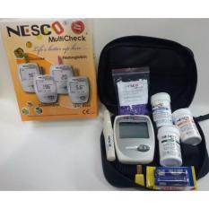 Model Nesco Multicheck Gcu Alat Tes Alat Cek Kolesterol Asam Urat Gula Darah 3In1 Terbaru