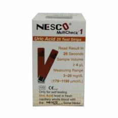 Review Tentang Nesco Strip Asam Urat Uric Acid Isi 25 Strip