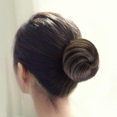 Baru Klip Di Ekor Kuda Bun Scrunchie Tali Rambut Ekstensi Synthetic Hairpiece (Black Brown)-Intl