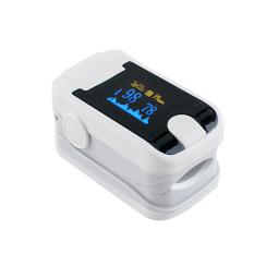 Baru Warna OLED Jari Pulse OXIMETER dengan Audio Alarm & Suara Pulse-Spo2 Monitor Jari Puls OXIMETER (Putih) -Intl