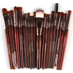 Baru Praktis 22 Pcs Mata Sikat Khusus Powder foundation Brush Kuas Bibir Cheek Adalah Brush Tetes Air Bentuk Set 3 #