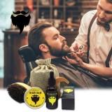 Harga Niceeshop 1 Set Dari 4 Pcs Mens Beard Styling Alat Set Beard Oil Dan Balsem Kumis Sikat Sisir Rambut Intl Yg Bagus