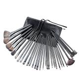Jual Niceeshop 32 Buah Kuas Kosmetik Profesional Rias Set Kit Dengan Kasus Kulit Sintetis Hitam Branded