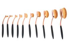 Spek Niceeshop 10 Buah Baru Modern Oval Multipupose Sikat Gigi Lembut Kuas Rias Dasar Niceeshop