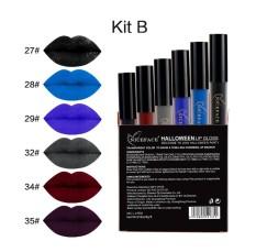 NICEFACE 6 Pcs/lot Tengkorak Gaya Halloween Anti-Air Warna Tidak Mengkilap Lipstik Metalik Cair Tahan Lama Beauty Lips Mak-Internasional