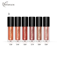 Niceface 6 Pcs/set Lot Pro Makeup Set Matte Lipgloss Kit Tahan Lama Warna Metalik Tahan Air Lip Gloss Cair Lipstik- INTL
