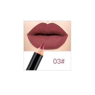 NICEFACE Merek Pensil Penggaris Bibir Anti-Air Warna Tidak Mengkilap Lipstik Set Nude Mata Eyebrow Bibir Pena Tahan Lama Kontur Warna-warni Riasan Alat -Internasional thumbnail