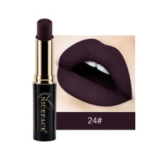 Niceface Modis 24-warna Matte Metalik Lipstik Tahan Air Halus Lembab Fadeless Seksi Bibir Kosmetik Lipstik Kit-Intl