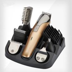 Nikai 6 In1 Isi Ulang Mesin Pemotong Rambut Penjepit Rambut Hair Trimmer Beard Trimmer Mesin untuk Pemangkasan Gunting Barber Mesin Potong Rambut- INTL
