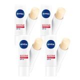 Jual Beli Online Nivea Lip Balm Soothe And Protect Paket Isi 4