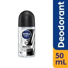 Nivea Men Deodorant Invisible Black & White Roll-On - 50ml By Lazada Retail Nivea.