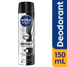 Nivea Men Deodorant Invisible Black & White Spray - 150 Ml By Lazada Retail Nivea.