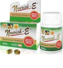 Harga Nourish E 400 Iu Suplemen Vitamin E Isi 30 Kapsul Murah