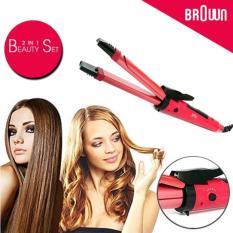 Rp 99.500. Nova Catok Pelurus Pengriting Rambut 2 In 1 Besar 28mm Hair Beauty Curly Straightener ...