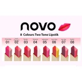Harga Novo Two Tone Lip Bar 5 Seduction Asli Novo