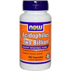 Review Now Foods Acidophilus Two Billion 100 Capsules Dki Jakarta
