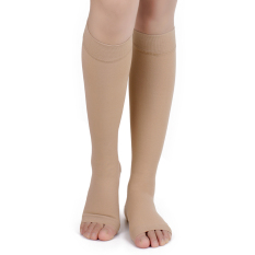 Jual N*d* Size Xl New Compression Knee Socks Leg Support Open Toe Stockings Online