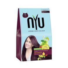 NYU Hair Color Burgundy 30g Cat Pewarna Rambut Herbal