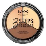 Review Nyx Professional Makeup 3 Steps To Sculpt Face Sculpting Palette Light Nyx Professional Makeup Di Indonesia