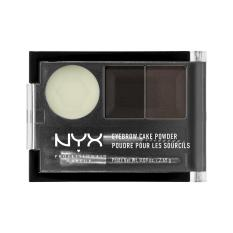 Beli Nyx Professional Makeup Eyebrow Cake Powder Black Gray Bedak Alis Dua Warna Dengan Wax Nyx Professional Makeup Asli