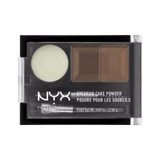 Spesifikasi Nyx Professional Makeup Eyebrow Cake Powder Brunette Bedak Alis Dua Warna Dengan Wax Lengkap Dengan Harga