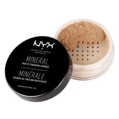 NYX Professional Makeup Mineral Finishing Powder Medium/Dark - Bedak Tabur Untuk Kulit Normal dan Berminyak Menyerap Minyak Berlebih (Shine/Oil Free) Hasil Akhir Matte