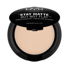 NYX Professional Makeup Stay Matte But Not Flat Powder Nude - Compact Powder/Bedak Padat untuk kulit Normal & Berminyak Hasil Matte dan Flawless