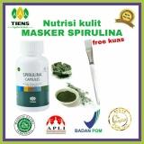 Beli Obat Jerawat Masker Ganggang Hijau Spirulina Herbal Tiens 20 Kapsul Gratis Kuas Dengan Kartu Kredit