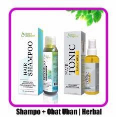 Harga Obat Uban Shampoo Green Angelica Paket Untuk Menghitamkan Uban Alami Paket Hemat Paling Murah