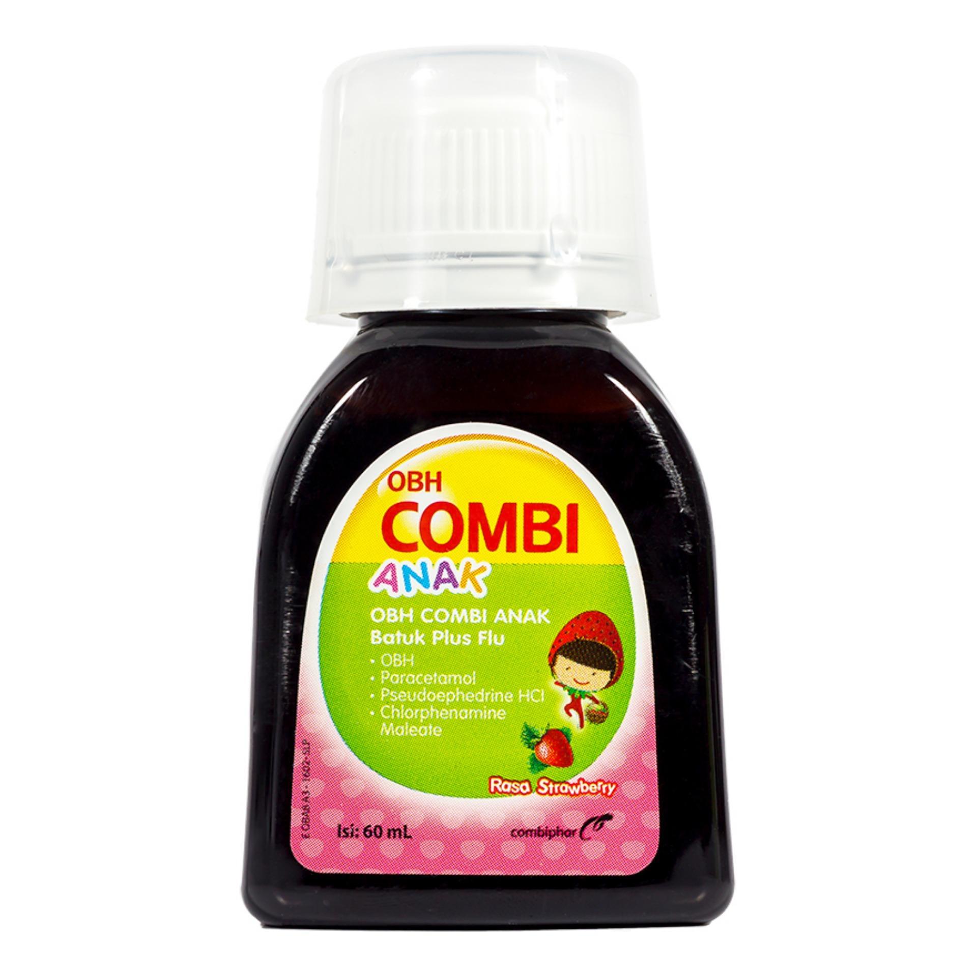 Beli sekarang Obh Combi Flu Anak Strawberry 60ml pencari harga - Hanya Rp13.234