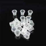 Spesifikasi O 1000 Buah Tato Tinta Cap Cangkir Plastik Putih For Persediaan Tinta Jarum Tato Baru