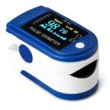 Review Pada O Memimpin Tekanan Darah Oksigen Jari Ujung Jari Pulsa Oksimeter Oxymeter Memantau Biru
